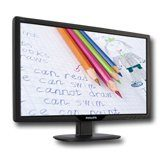Монитори LCD PHILIPS 191V2AB (18.5″, 1366×768, TN, 300000:1(DCR), 176/170, 5ms, VGA/DVI, MM) Черен