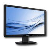 Монитори LCD PHILIPS 221V2SB (21.5″, 1920×1080, 300000:1(DCR), 176/170, 5ms, VGA/DVI) Черен
