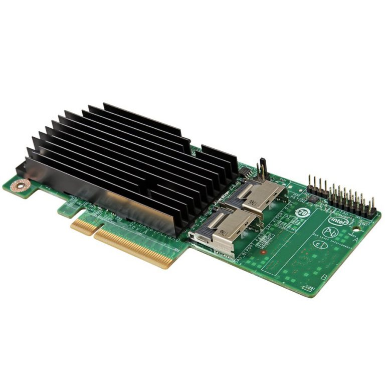 Intel RAID Controller RMS25PB080 (LSI2208 ROC, PCIe 2.0 X8 Slot, 8Port Internal SAS/SATA, 1GB DDR3, RAID 0,1,10,5,50,6,60, support for RSBBU9 or RMFBU2, no cables), Single