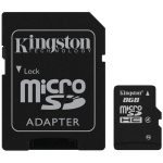 Kingston  8GB microSDHC Class 4 Flash Card + SD Adapter, EAN: '740617128147