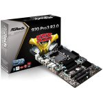 ASROCK Main Board Desktop AMD 970 (SAM3+, DDR3, SATA III,PS/2,USB2.0,USB3.0,Microphone-In,Audio Line-In,Audio Line-Out,LAN) ATX Retail