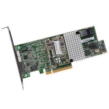 LSI Controller Card LSI00415, 4-Port Int., 12Gb/s SATA+SAS, PCIe 3.0, 1GB DDRIII