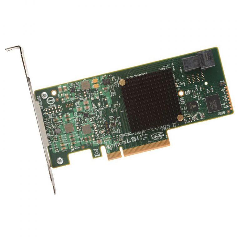 LSI Controller Card LSI00419, 4-Port Int, 12Gb/s SATA+SAS, PCIe 3.0, Entry