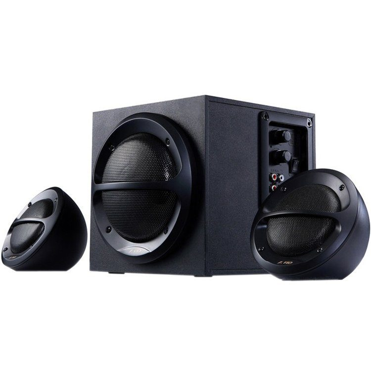 Multimedia – Speaker F&D A110 (2.1 Channel Surround, 35W, 120Hz-20kHz, Subwoofer: 65Hz-120Hz, Wooden, Black)