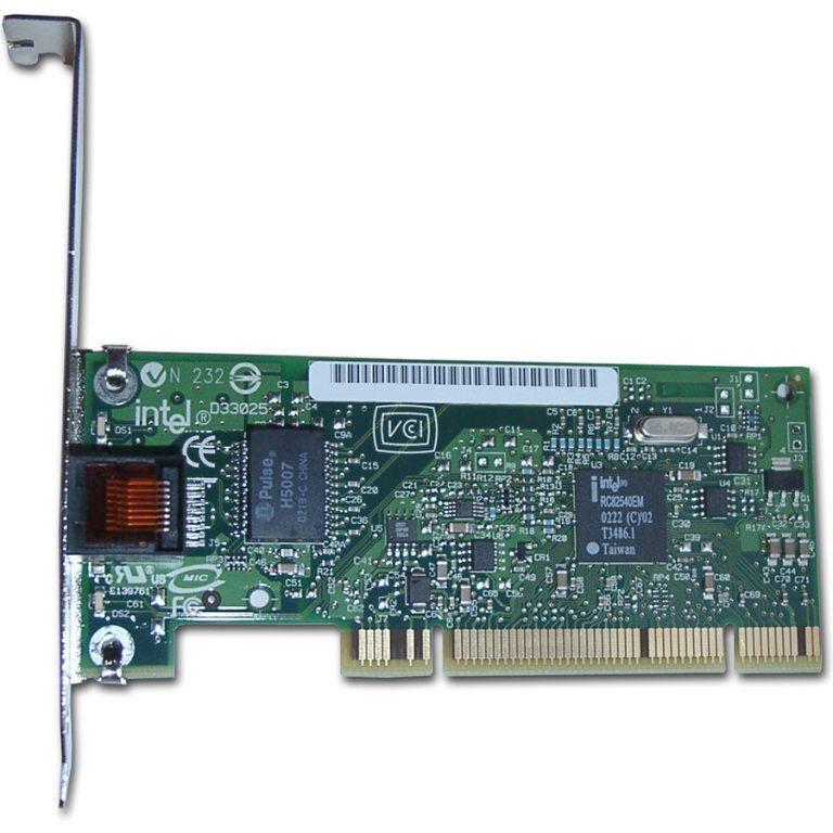 Мрежова Карта INTEL PRO/1000 GT Desktop Adapter (PCI, 10/100/1000Base-T, 1000Mbps, Gigabit Ethernet) Без опаковка