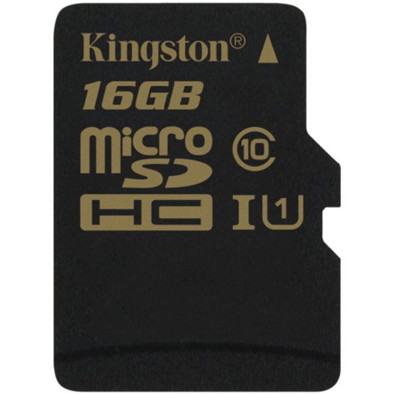 Kingston  16GB microSDHC Class 10 UHS-I 90MB/s read 45MB/s write + SD Adapter, EAN: '740617229837