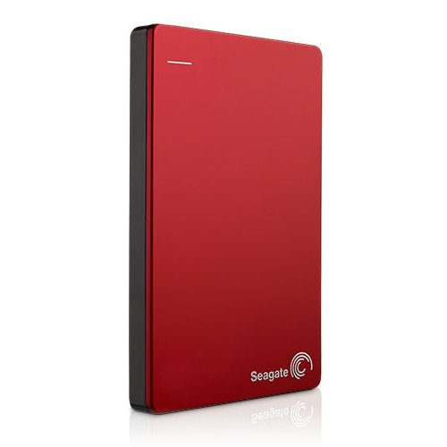 """SEAGATE HDD External Backup Plus Portable (2.5"""",2TB,USB 3.0) Red"""