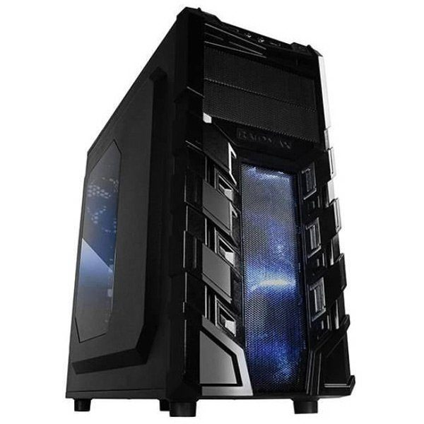 Chassis Vortex_V3 Middle Tower, ATX, 7 slots, 2 X 5.25″, 3 X 3.5″ H.D., 3 X 2.5″ SSD, 1 X USB2.0 / 2 x AUDIO / 1 x USB3.0, PSU Optional,2 X 120mm Front LED fan/opt./, 1 x 120mm Back Black FAN, 1 X 120mm top LED fan /opt./, BLACK