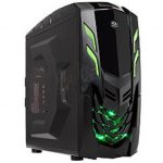 Chassis  VIPER_GX Middle Tower, ATX, 7 slots, 3 X 5.25″, 3 X 3.5″ H.D. or 3 X 2.5″ SSD, 2 x AUDIO / 2 x USB3.0, PSU Optional, 2 X 120mm LED fan (one included), 1 x 120mm Black frame with Black leaves fan,  Black
