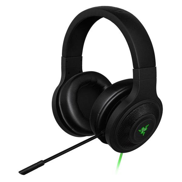 Razer Kraken USB Headset-Advanced 7.1 virtual surround sound engine,32mm drivers,unidirectional analog microphone