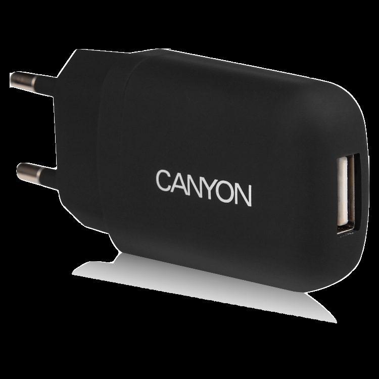 CANYON Single USB Home Carger 1A (Color: Black)