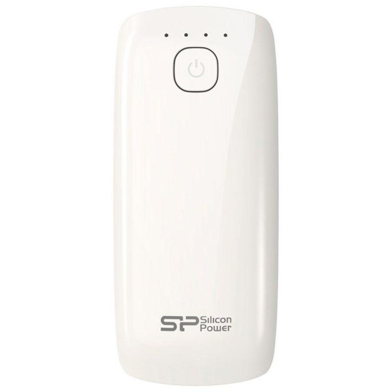 SILICON POWER 5200mAh,Power Bank,Petroleum P51,White