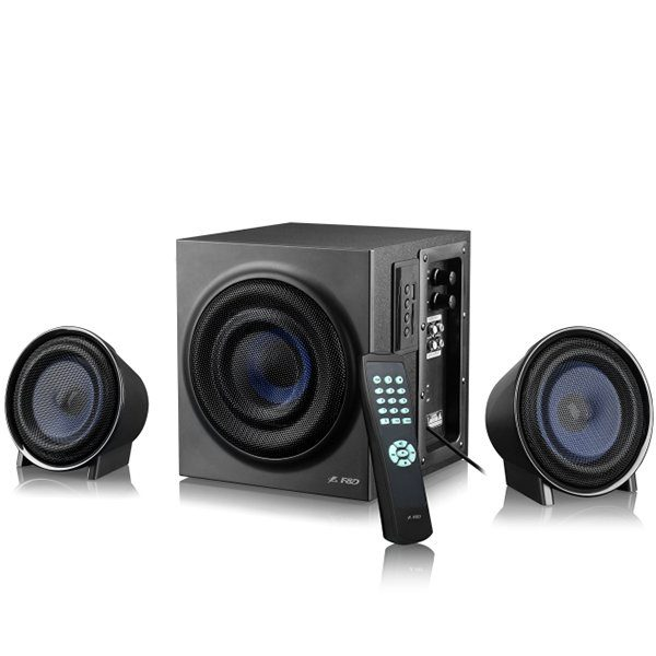Multimedia – Speaker F&D W130X (2.1 Channel Surround, 42W, 340Hz-20kHz, Subwoofer: 45Hz-135Hz, Bluetooth, USB/SD card reader, Wooden, Black)