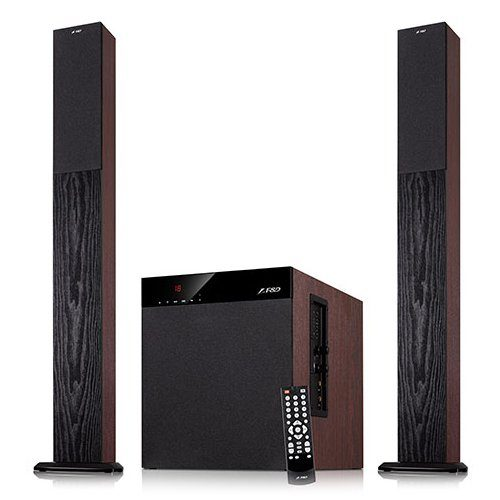 Multimedia – Speaker F&D T-400X (2.1, 100W, 400Hz-20kHz, Subwoofer: 20Hz-100Hz, USB/SD card reader, FM, Remote control, Wooden)
