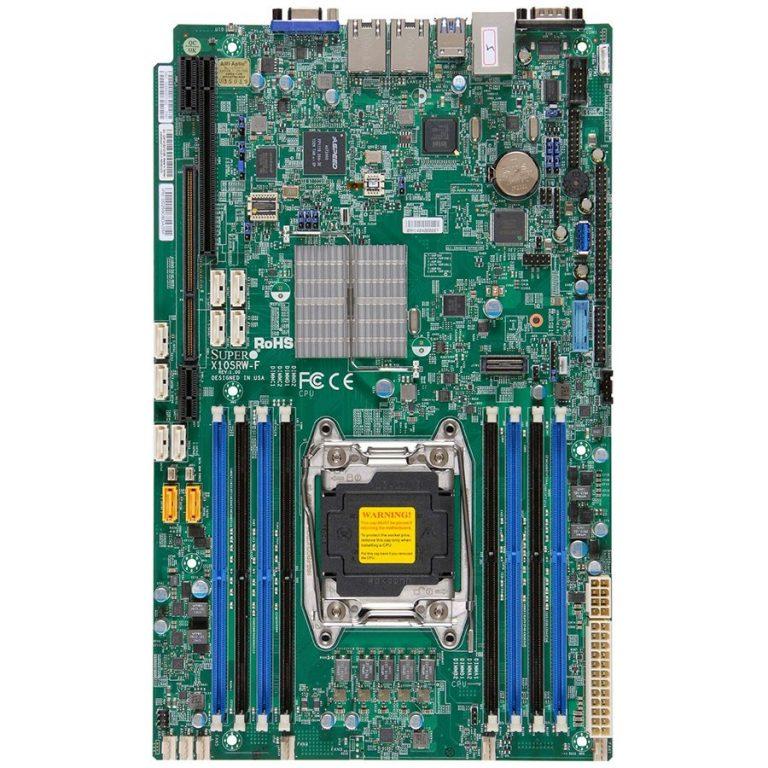 Supermicro mainboard server MBD-X10SRW-F 8x 284-pin socket GbE LAN ports SATA3 controller