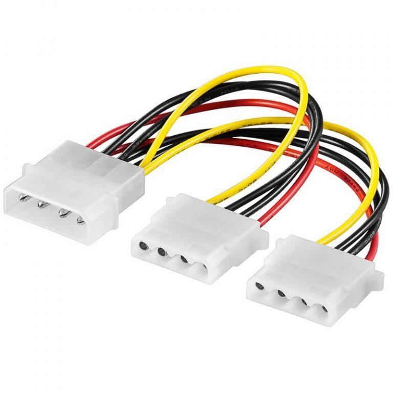 Power cable Molex/2x Molex 15cm
