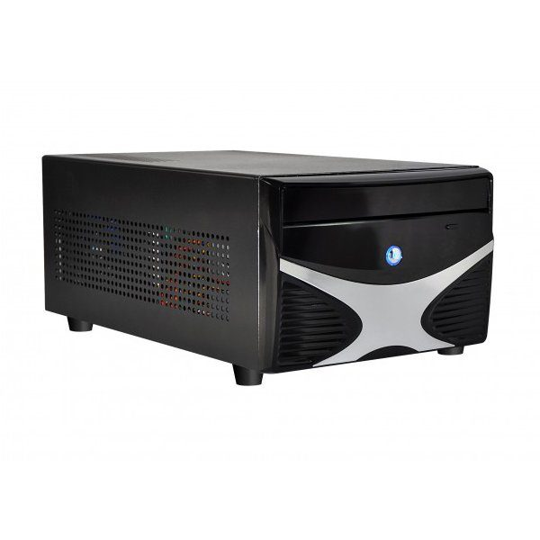 E-mini X5 Black/Silver w/o PSU, Standard PSU, Dual Slot VGA and 2x 3.5″ HDD compatible, Mini-ITX chassis