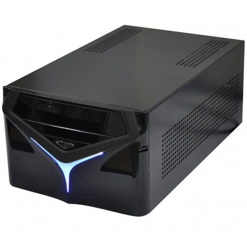 E-mini X6 Black w/o PSU, Standard PSU, Dual Slot VGA and 2x 3.5″ HDD compatible, Mini-ITX chassis
