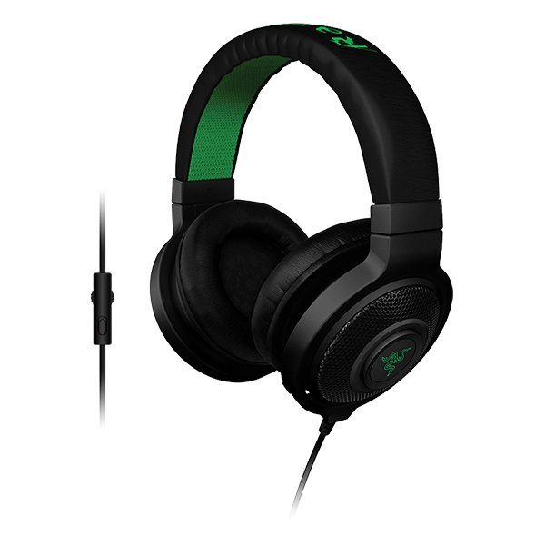 Razer Kraken Pro 2015 (Black) – Analog Gaming Headset ,Optimized weight for extended wear,In-line controls and fully-retractable microphone for easy access,powerful drivers and sound isolation for highest-quality gaming audio