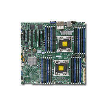 Supermicro X10DRI-LN4+ Dual socket R3 (LGA 2011) supports Intel Xeon processor E5-2600 v3 family; QPI up to 9.6GT/s Intel C612 chipset Up to 1.5TB ECC DDR4 2133MHz; 24x DIMM slots PCI-E 3.0 x16, 3 PCI-E 3.0 x8, andPCI-E 2.0 x4 (in x8)