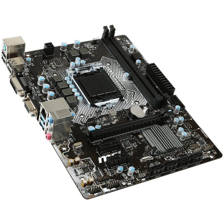 MSI Main Board Desktop H110 (S1151,2DDR4,1xPCI-Ex16,2xPCI-Ex1 USB3.1,USB2.0,SATA III,DVI,GLAN) mATX Retail