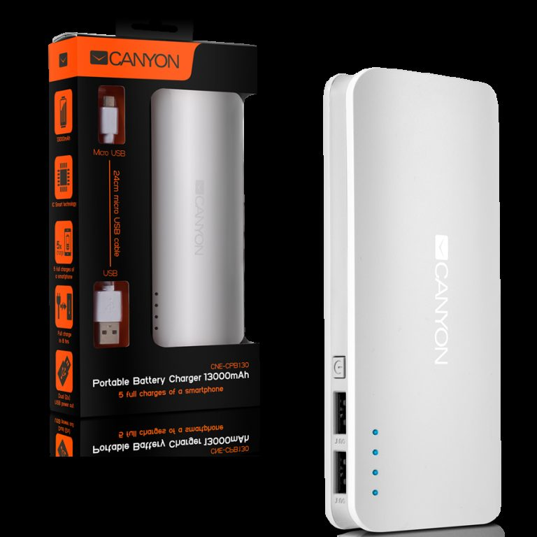 CANYON CNE-CPB130W Battery charger for portable device 13000 mAh (White)