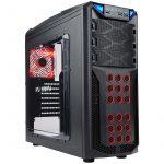 Chassis In Win GT1 Mid Tower ATX SECC Steel, EX 5.25″x3, 3.5″/2.5″x6(EZ-Swap x4),2.5″x2,Fan Speed Controller 3.5″/2.5″ SATA HDD EZ-Swap x1,USB 3.0×1,USB 2.0×2,HD Audio,PCI-E Slot x7,up to 120mm Fan x8,Black