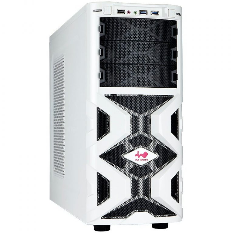 Chassis In Win MANA136 Mid Tower ATX SECC Steel, 5.25″x3, 3.5″x6(Supports SATA HDD EZ-Swap Modulex2),USB 3.0×2,USB 2.0X1, HD/AC' 97 Audio, 12cm LED Front Fan x1, 12cm Rear Fan x1, Water-Cooling Hole Ready, White
