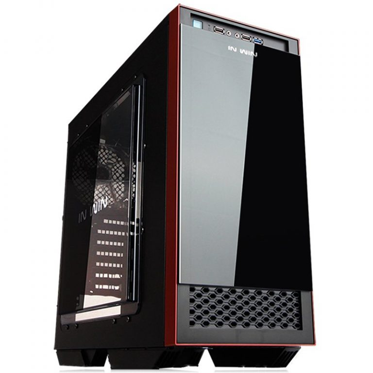 """Chassis In Win 503 Mid Tower ATX SECC Steel, EX 5.25″ x1, 5.25″ x2 3.5"""" / 2.5"""" x4(EZ-Swap Module)2.5"""" x2,USB 3.0 x1, 2.0 x2,HD Audio, 120mm Fan x5, CPU Heatsink up to 160mm, Water-Cooling Ready, Black"""