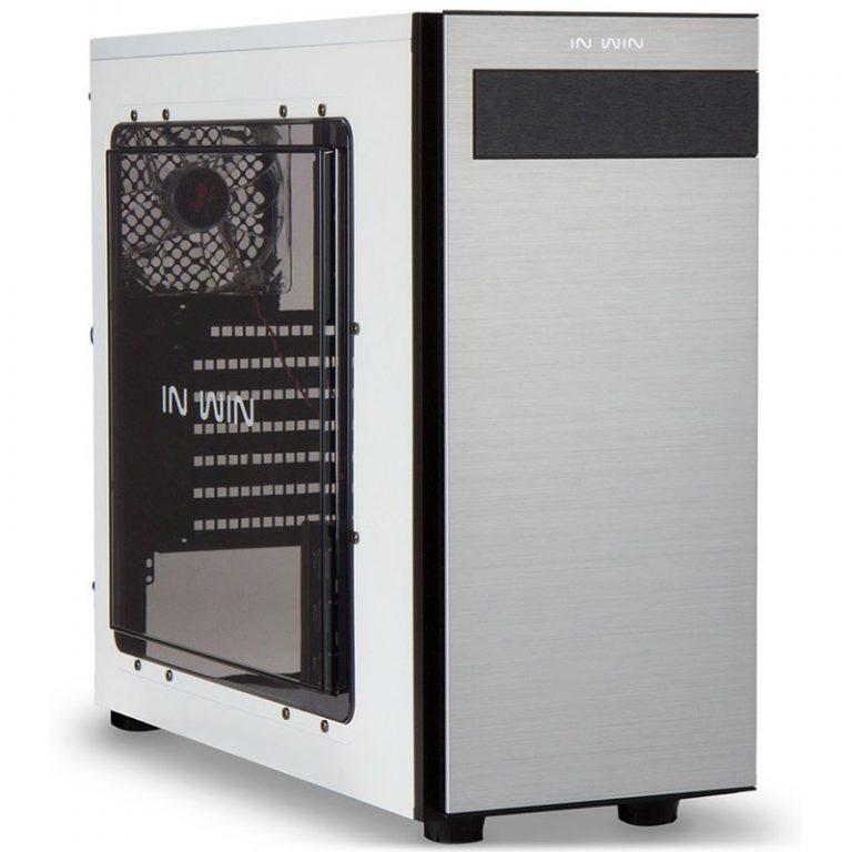 "Chassis In Win 703 Mid Tower ATX SECC Steel, EX 5.25″ x1, 5.25″ x2 3.5"" / 2.5"" x4(EZ-Swap Module)2.5"" x2,USB 3.0 x1, 2.0 x2,HD Audio, 120mm Fan x4, CPU Heatsink up to 160mm, Water-Cooling Ready, White"