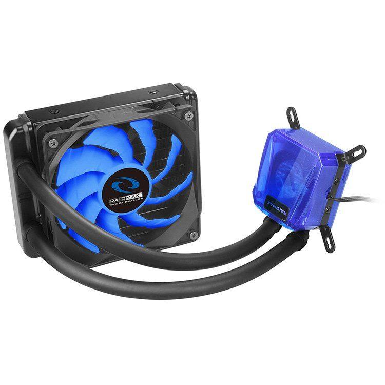 Raidmax Cobra Series 120, Compatible with Intel (LGA1150/1155/1156, 1366, 2011/ 2011-3) and AMD (AM2/AM3, FM1/FM2), 140mm radiator and single SP120, 500~1800 RPM, < 21.2dBA (Max.), Ceramic Bearing, Aluminum
