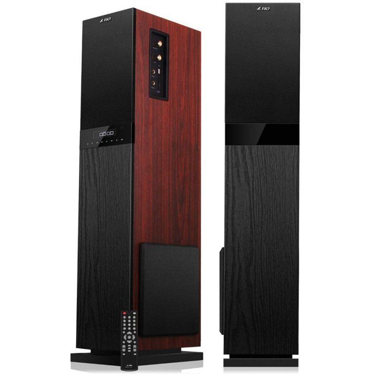 Multimedia – Speaker F&D T-80U (2.0, 120W, 40Hz-20kHz, USB/SD card reader, FM, Remote control, Wooden, Black)