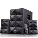 Multimedia Bluetooth Speakers F&D A180X (2.1 Channel Surround, 42W, 200-20KHz, Subwoofer: 50-118Hz, Bluetooth 4.0, USB card reader, FM, digital, Remote Control, Wooden, Black)