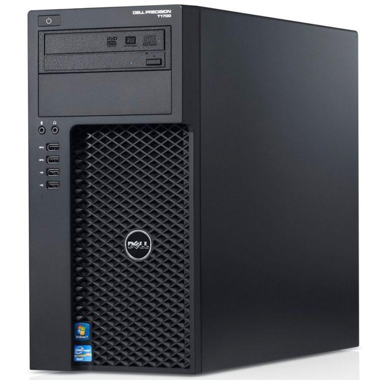 Dell Precision T1700, Intel Xeon E3-1220 v3 3.10GHz, 16GB (2x8GB) DDR3, 500GB SATA HDD, 16x DVD+/-RW, NO VGA, USB Mouse, KB212-B USB Keyboard, 290W PSU, Intrusion Switch, Win7 Pro (64Bit Windows 8.1 Pro License, Media), 3Yr NBD