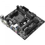 Socket FM2+, 2xDDR3 2400+, 1 PCIe 3.0 x16, 1 PCI 2.0 x1, 1 PCI, DVI-D, D-Sub, HDMI, 5.1 CH HD Audio, 4 SATA3, 4 USB 3.0, mATX