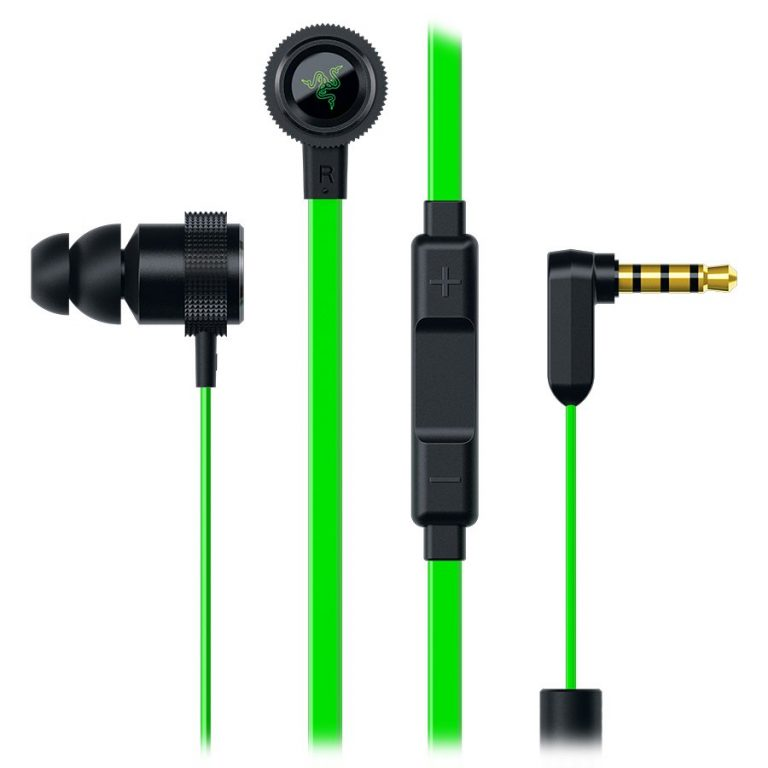 Hammerhead Pro V2 Analog Gaming & Music In-Ear Headphones + mic,In-line microphone with 3 Quick Action Control buttons for iOS and Android devices , flat-style cables,10 mm extra-large dynamic drivers,