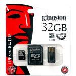 Kingston  32GB Multi Kit (Class 10 microSD + SD adapter + USB reader) Android, EAN: '740617183016