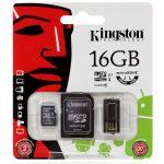 Kingston  16GB Multi Kit (Class 10 microSD + SD adapter + USB reader) Android, EAN: '740617183009