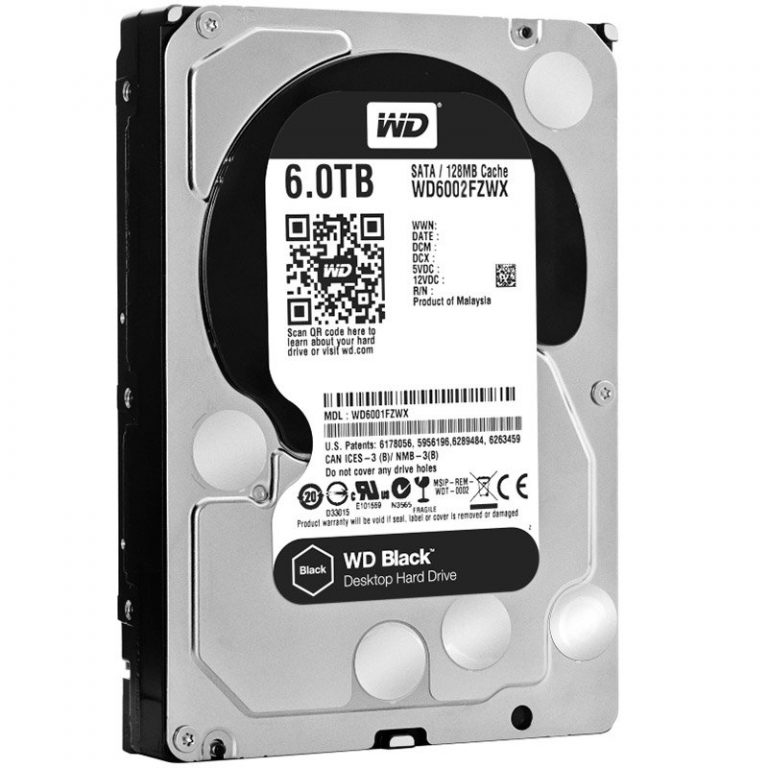 "HDD Desktop WD Black (3.5"", 6TB, 128MB, 7200 RPM, SATA 6 Gb/s)"