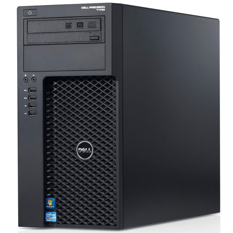 Dell Precision T1700 MT, Intel Xeon Processor E3-1271 v3 (Quad Core HT, 3.60GHz Turbo, 8MB), 16GB (2x8GB) 1600MHz DDR3 Non-ECC, 2x1TB 3.5inch Serial ATA (7,200 Rpm), DVD-RW, Intel UMA, Dell USB MS111 , Bulg, 3Y NBD