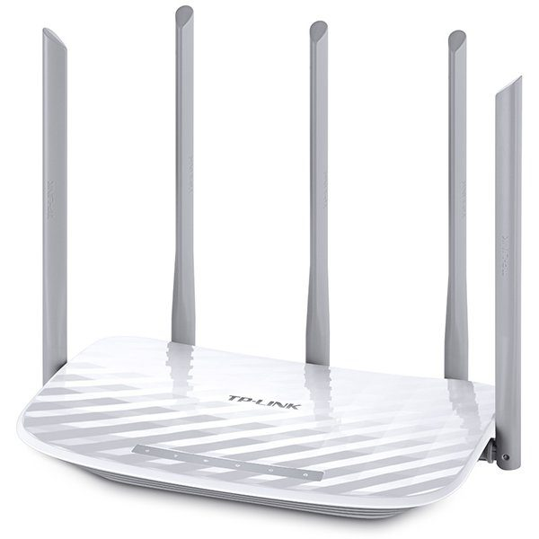 Router TP-Link AC1350 Dual-Band Wi-Fi Router, 802.11ac/a/b/g/n,  867Mbps at 5GHz + 450Mbps at 2.4GHz, 5 10/100M Ports, 5 fixed antennas, Beamforming, IPTV,  Cloud support, VPN Server,  LED Control , WPS ,IPv6 Ready, Tether App