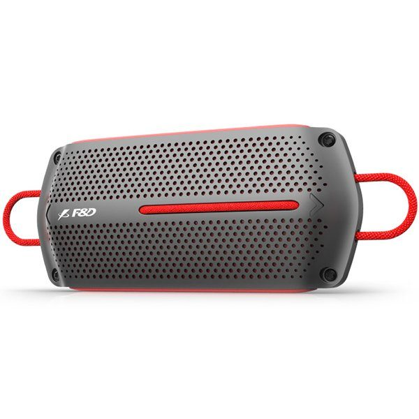 Multimedia Bluetooth Speakers F&D W12 – Power output 4W+4W, 1.75″ inch driver, Bluetooth 4.0, 360 degree sound field, micro SD card, 3.5mm Aux input, Li-ion battery 1500mA, Anti-water design, Red/Grey