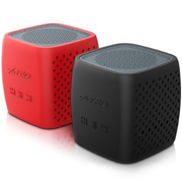 Multimedia Bluetooth Speakers F&D W4 – Power output 3W, 1.5″ inch driver and passive radiator, Bluetooth 4.0, 360 degree sound field, changable colorful cover, (micro SD card, 3.5mm Aux input, Li-ion battery 1000mA, Red/Black