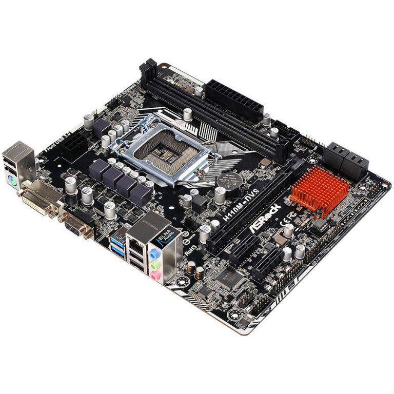 ASROCK H110 (S1151, 2xDDR4,1xPCIE3.0 x16,2 x PCIE2.0 x1, 4xSATAIII, USB2.0, USB3.0, GLAN,VGA, DVI-D) mATX