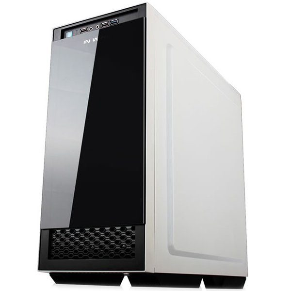 "Chassis In Win 503 Mid Tower ATX SECC Steel, EX 5.25″ x1, 5.25″ x2 3.5"" / 2.5"" x4(EZ-Swap Module)2.5"" x2,USB 3.0 x1, 2.0 x2,HD Audio, 120mm Fan x5, CPU Heatsink up to 160mm, Water-Cooling Ready, White"