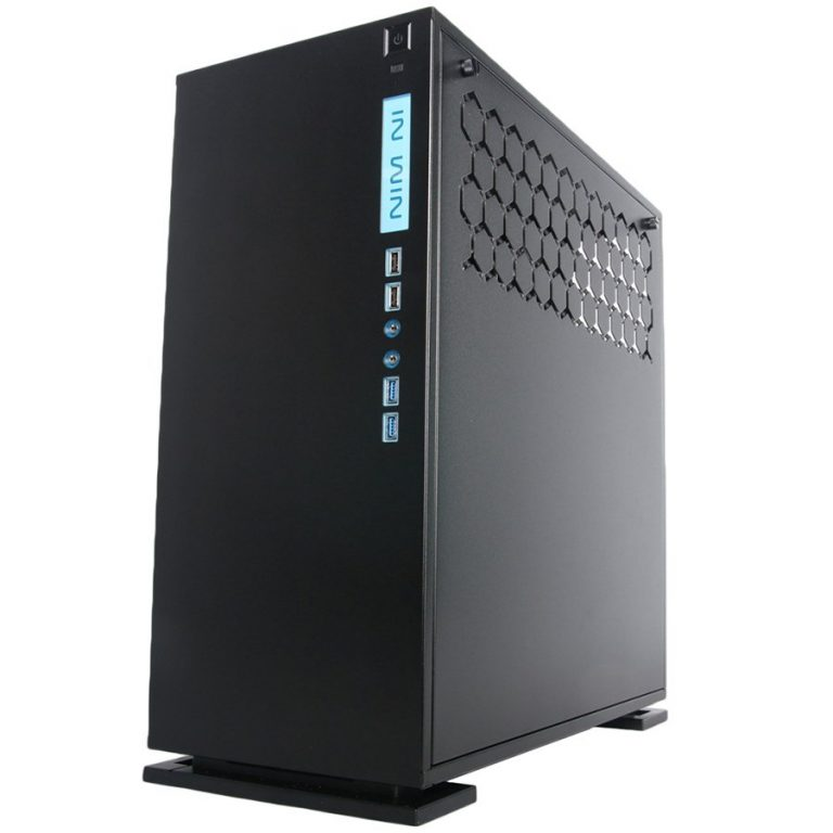 Chassis In Win 303 Mid Tower ATX Aluminum SECC, Tempered Glass, ATX, Micro-ATX, Mini-ITX, Front Ports 2xUSB 3.0,2xUSB 2.0,HD Audio, Dimensions 500x215x480, 1x120mm Rear Fan/120mm Radiator,3x120mm Top Fan/360mm Radiator,3x120mm Bottom Fan, Black