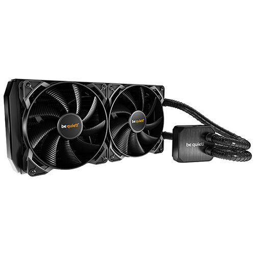be quiet! SILENT LOOP 280mm liquid cooling, Intel®: LGA 775 / 1150 / 1151 / 1155 / 1156 / 1366 / 2011(-3) Square ILM/2066, AMD™: AM2(+) / AM3(+) / FM1 / FM2(+) / TR4 (+ mounting kit bz007), TDP 400W, 2x Pure Wings 2 140mm PWM, 3Y Warranty