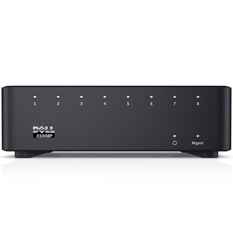 Dell Networking X1008P Smart Web Managed Switch, 8x 1GbE PoE ports