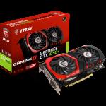 MSI Video Card GeForce GTX 1050 Ti GAMINGX GDDR5 4GB/128bit, PCI-E 3.0 x16,DP, HDMI, DVI-D, Retail
