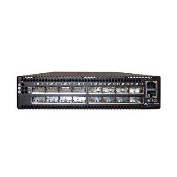 Mellanox Spectrum based 100GbE 1U Open switch with Cumulus Linux, 16 QSFP28 ports, 2 power supplies (AC), x86 dual core, Short depth, C2Pirflow, Rail Kit must be purchased separately, RoHS6
